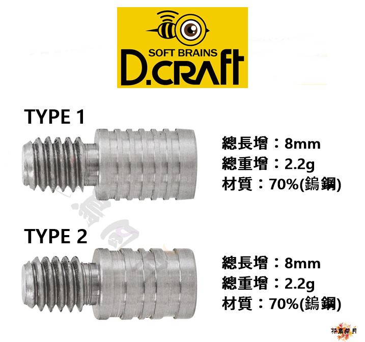 DCRAFT-BARREL-EXTENSION-TUNGSTEN
