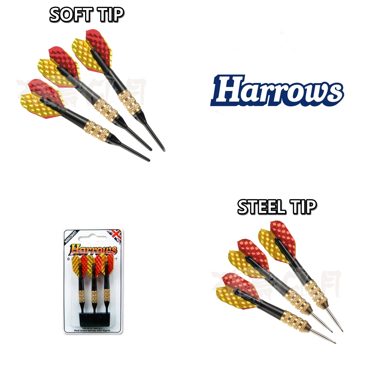 HARROWS-ACCESSORY-STEELTIP-SOFTIP-MINI-DARTS